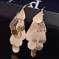Dámské Visací náušnice Náušnice Leaf Shape Prohlášení Přizpůsobeno Luxus Pro nevěstu Festival / Svátek Šperky Stříbrná / Zlatá Pro Svatební Párty Zvláštní příležitosti Denní Ležérní