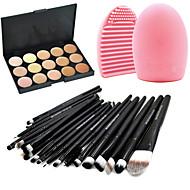 20pcs Make-up pensler Professionel Brush Sets / Rougebørste / Øjenskyggebørste Gedehårs Børste / Ponybørste / Nylon Børste Bærbar / Rejse