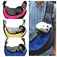 Cat / Dog Front Carrier Pet Travel Backpack Shoulder Bag Portable Breathable Fabric Red / Green / Blue / Yellow