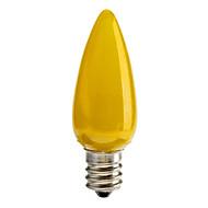 billige Stearinlyslamper med LED-1pc 0.5 W 30 lm E12 LED-lysestakepærer C35 6 LED perler Dyp Led Dekorativ Rød / Blå / Gul 100-240 V / RoHs