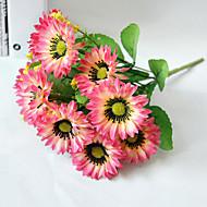 billige Kunstige blomster-Gren Polyester Solsikker Bordblomst Kunstige blomster 24(9.45'')