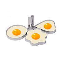billige Eggeverktøy-kjøkken Verktøy Plast Kreativ Kjøkken Gadget Gjør Det Selv Støpeform for Egg 3pcs