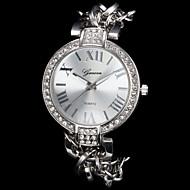 Dame Modeur Armbåndsur Quartz Imiteret Diamant Legering Bånd Glitrende Elegante Sølv Guld Rose Guld Sølv Gylden Rose Guld