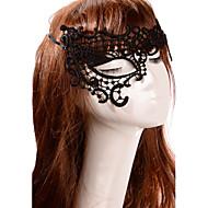 billiga Brudhuvudbonader-Kristall Spets Tyg Tiaras masker 1 Bröllop Speciellt Tillfälle Fest / afton Hårbonad