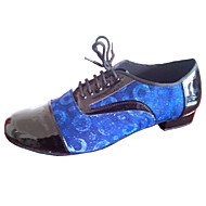 billige Kustomiserte dansesko-Herre Latin Moderne Standard sko Salsa Kunstlær Høye hæler Innendørs Profesjonell Nybegynner Trening Tykk hæl Flerfarget Kan