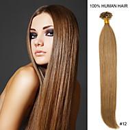 22inch remy nagel tip haar 0.6g / s human hair extensions 16 kleuren voor vrouwen schoonheid