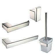 Bad Zubehör-Set Handtuchring WC-Rollenhalter Kleiderhaken WC-Bürstenhalter Zeitgenössisch Edelstahl Glas 23cm 46cm Handtuchring