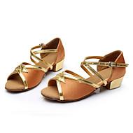 baratos Sapatilhas de Dança-Mulheres Sapatos de Dança Latina Paetês / Cetim Sandália Presilha Salto Personalizado Personalizável Sapatos de Dança Vermelho / Azul /