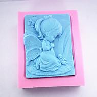 baratos -moldes de cozimento 3d o molde pouco de sabão menina