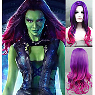 Cosplay Wigs New Guardians of the Galaxy Gamora Wig Synthetic Long Wavy Gradient Costume wigs