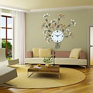baratos -Moderno/Contemporâneo Florais/Botânicos Relógio de parede,Redonda Interior Relógio