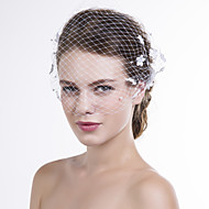 cheap Wedding Headpieces-Net Birdcage Veils 1 Wedding Special Occasion Casual Headpiece