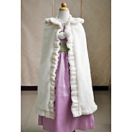 cheap Flower Girls' Accessories-Sleeveless Faux Fur Wedding Party Evening Casual Kids' Wraps Capes