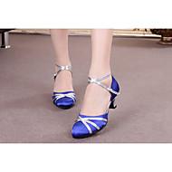 baratos Sapatilhas de Dança-Mulheres Sapatos de Dança Moderna Sintético / Cetim / Couro Envernizado Salto Alto / Sandália / Têni Presilha / Cadarço de Borracha /