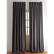 Rod Pocket Grommet Top Tab Top Double Pleated Two Panels Curtain Country Modern Neoclassical Mediterranean European Designer , Solid
