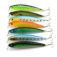 7 pcs Minnow Fishing Lures Minnow Hard Plastic Sinking Sea Fishing Freshwater Fishing Lure Fishing