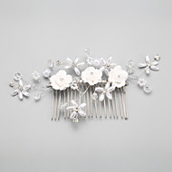 cheap Flower Girls' Accessories-Imitation Pearl Alloy Hair Combs Headwear with Floral 1pc Wedding Special Occasion Headpiece