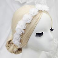 billiga Brudhuvudbonader-polyesterkransar huvudstycke bröllopsfest elegant feminin stil