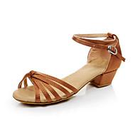 baratos Sapatilhas de Dança-Mulheres Sapatos de Dança Latina / Dança de Salão Flocagem Sapatilha / Sandália Cadarço de Borracha Salto Robusto Não Personalizável