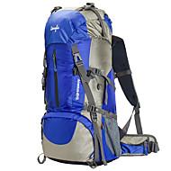 60L Zainetti / Mochila para Excursão - Prova-de-Água, Á Prova-de-Chuva, Vestível Acampar e Caminhar, Alpinismo Terylene, Malha, Náilon