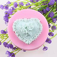 Hjerteformede Blomster Fondant Kage Chokolade Silikone Forme, Dekoration Værktøjer Bageredskaber