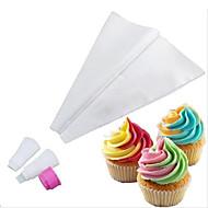 to-tonet dobbelt farve icing sprøjtepose frosting cupcake kage udsmykning værktøjer (tilfældig farve)