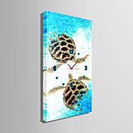 Rektangulær Moderne / Nutidig Wall Clock , Andre Lerret 30 x 60cm(12inchx24inch)x1pcs /40 x 80cm(16inchx32inch)x1pcs