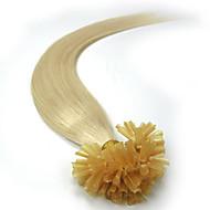 自然ケラチン融合ブラジルの人間の髪の毛のエクステンションストレート事前結合uが100本のストランドを傾けます