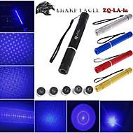 ostré eagle ZQ-la-1a 445nm 5mW modré laserové ukazovátko (shell barva multicolor) + 5 laserová vzorování hlava + laser meč