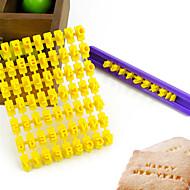scrisoare alfabet număr biscuit cookie cutter de presă timbru embosser tort mucegai (26 de litere + numere)
