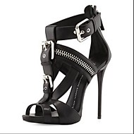 Women's Spring Summer Fall Leatherette Office & Career Dress Party & Evening Stiletto Heel Black White