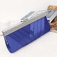 baratos Clutches & Bolsas de Noite-Mulheres Bolsas Seda / Metal Bolsa de Festa Cristal / Strass Preto / Roxo / Azul Real