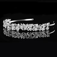 billiga Brudhuvudbonader-Bergkristall Tiaras / pannband med 1 Bröllop / Speciellt Tillfälle Hårbonad