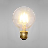 billige Glødelampe-COSMOSLIGHT 1pc 2 E14 E26/E27 G80 Gul 2300 K Dekorativ Glødende Vintage Edison lyspære AC 220V AC 220-240V V