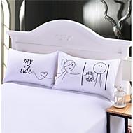 Polštář na postel , Bílá 80% husí prachové peří/20% husí peří