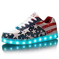 Damă Bărbați Pantofi Imitație de Piele Primăvară Vară Toamnă Iarnă Pantofi Usori Dantelă Pentru De Atletism Casual Party & Seară Rosu
