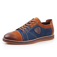 billige Skosalg-Herre sko Lær Vår Høst Komfort Snøring til Avslappet Grå Brun