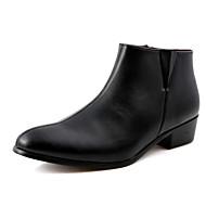 Masculino-Botas-Conforto-Salto Baixo--Courino-Casual