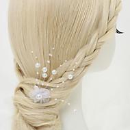 Damen Blumenmädchen Legierung Künstliche Perle Chiffon Kopfschmuck-Hochzeit Besondere Anlässe Haarklammer 1 Stück