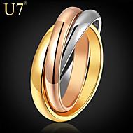 Vintage/Party/Munkahelyi/Alkalmi Bizsu gyűrű (Vörös arannyal galvanizált/Egyéb/Aranyozott
