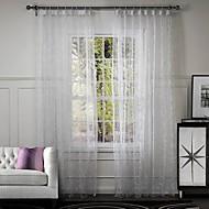 billige Gardiner ogdraperinger-Ferdiglaget Økovennlig gardiner gardiner Et panel 107 x 213cm Rishvit / Broderi / Stue