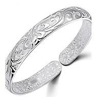 Women's Bracelet Bangles Sterling Silver Flower Ladies Bracelet Jewelry Silver For Daily Casual Sports