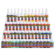billiga Tatueringsbläck-Solong tatuering bläck 54 färger inställd 5ml / flaska tatuering pigment kit