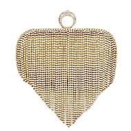 baratos Clutches & Bolsas de Noite-Mulheres Bolsas PU Bolsa de Festa / Dobra Dupla Pérolas Dourado / Prata