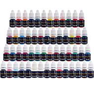 דיו קעקוע Solong 54 צבעים להגדיר 8ml / בקבוק קעקוע פיגמנט Kit