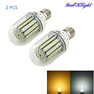 6W E26/E27 LED-maissilamput T 90 ledit SMD 3528 Koristeltu Lämmin valkoinen Kylmä valkoinen 450-500lm 3000/6000K DC 12V