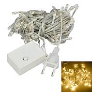 JIAWEN® 10 M 100 DIP LED ウォームホワイト 接続可 4 W ストリングライト AC220 V
