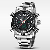 WEIDE® Men Luxury Sport Watch Double Time LCD Waterproof Stainless Steel Wristwatch Wrist Watch Cool Watch Unique Watch Fashion Watch