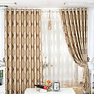 To paneler Window Treatment Neoklassisk , Stribe Stue Polyester Materiale Blackout Gardiner Hjem Dekor For Vindu