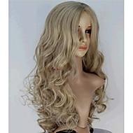 Synthetische pruiken Golvend Blond Synthetisch haar Middenscheiding Blond Pruik Dames Lang Monofilament / L-deel / half Capless Blond / Zonder kap